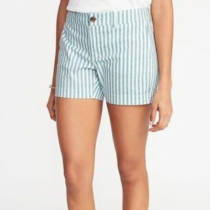 NWT Old Navy Everyday Shorts Mid Rise Striped 10